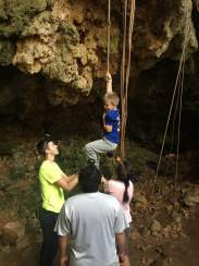 Cave Rappelling-this was probably more dangerous than we realized!